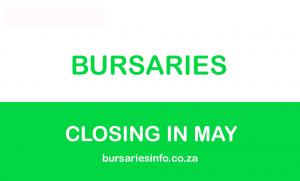 2021 bursaries closing in May 2020
