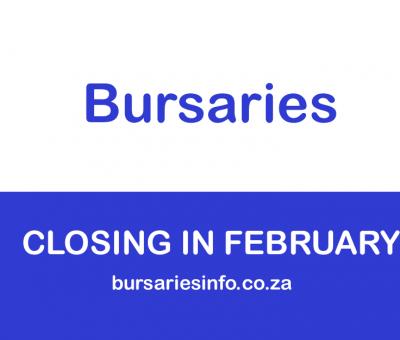 2021 BURSARIES CLOSING IN FEBRUARY 2021